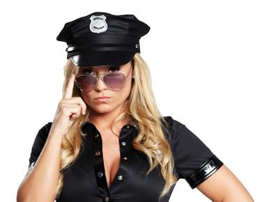 Police Cap schwarz - Kopfweite 59