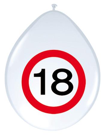 8 Ballons Verkehrsschild 18