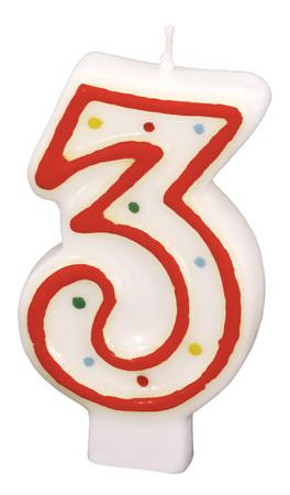 Geburtstagskerze Polka Dots 3