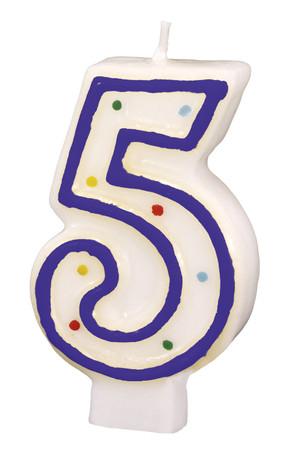 Geburtstagskerze Polka Dots 5