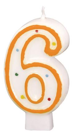 Geburtstagskerze Polka Dots 6