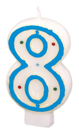 Geburtstagskerze Polka Dots 8
