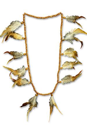 Indianerperlenkette mit Federn