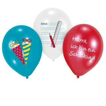 8 Ballons Schulanfang