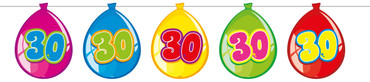 Ballonbanner Luftballons '30'