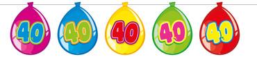 Ballonbanner Luftballons '40'