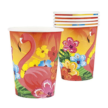 6 Becher Flamingo