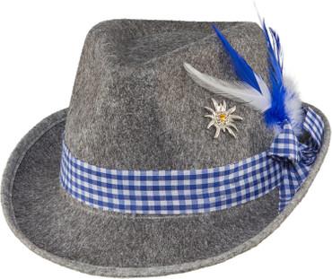 Trachtenhut Moni grau-blau