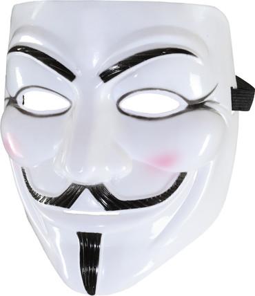 Maske weiß mit Bart – Bild 1