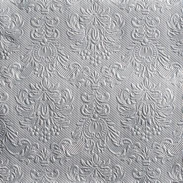 15 Servietten Elegance silver