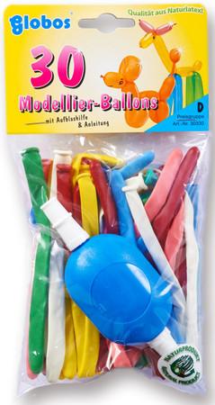 30 Modellierballons mit Pumpe