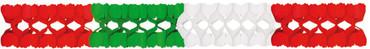 Girlande 4m weiss-rot-grün - Italien