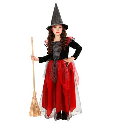 Hexen-Kleid schwarz-rot