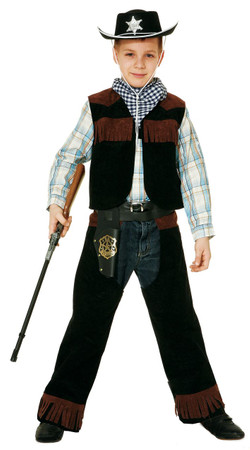 Sheriff -Weste mit Chaps