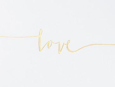 "Gästebuch ""Love"" gold – Bild 2"