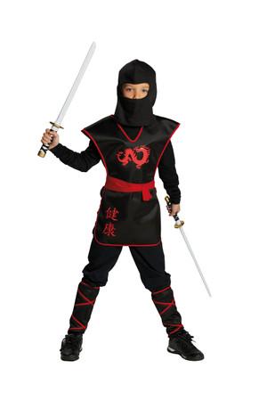Ninja Krieger-Oberteil mit Gürtel
