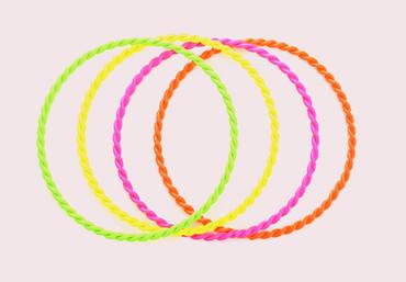 4 Armreifen neon