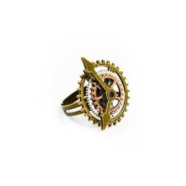 Fingerring Steampunk Uhr