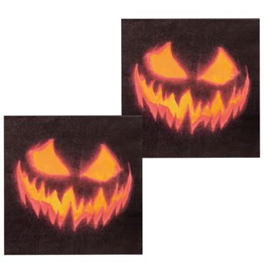 12 Servietten Creepy Pumpkin