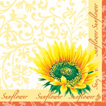 50 Servietten Helianthus
