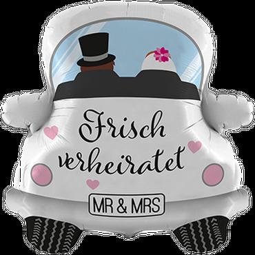 """Folienballon  """"Frisch verheiratet  Car"""""""