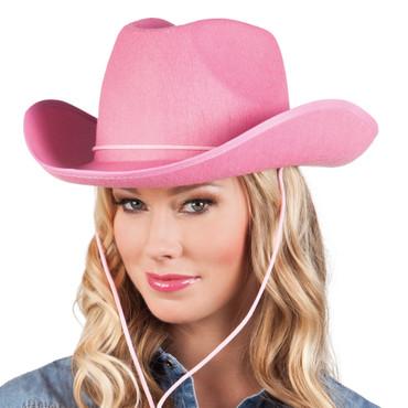 Cowboyhut Filz pink