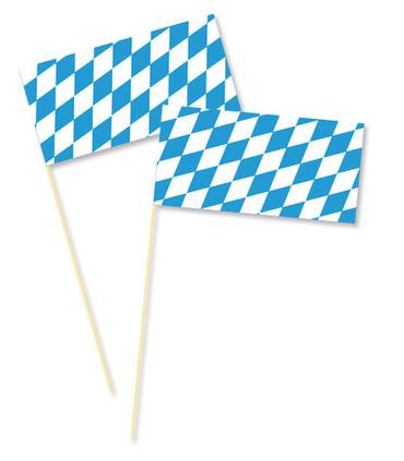 Bayernfahne am Holzstab 40cm