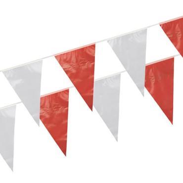 10m Wimpelkette rot/weiß