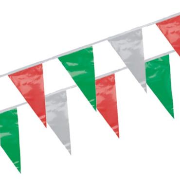 Wimpelkette 4 Meter grün/rot/weiß