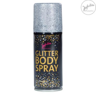 Glitter-Body-Spray silber – Bild 1