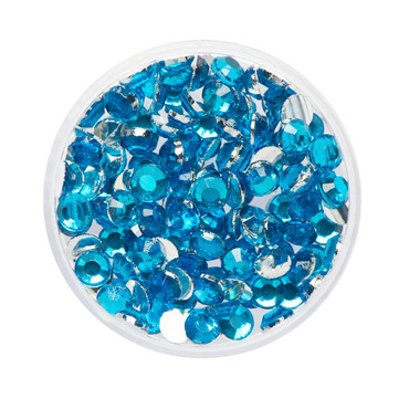 Glitzer-Steine aquamarine