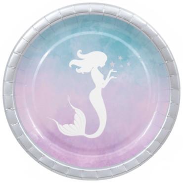 8 Teller Meerjungfrau