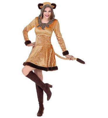 Leopardin-Kleid mit Kapuze – Bild 1