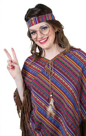 Brille Hippie mit Goldrand