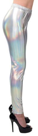 Space Leggings silber-holo – Bild 2