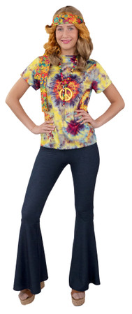 Schlaghose Jeans-Optik – Bild 1