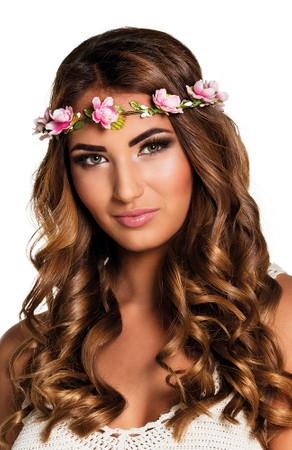 Blumen-Haarband Mallorca rosa – Bild 1