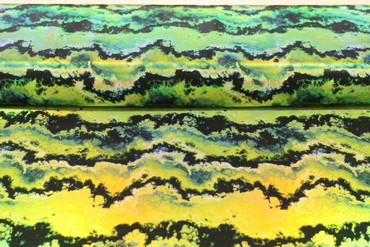 Lycra grün-schwarz mit Druck Gewitterwolken