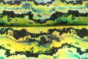 Lycra grün-schwarz mit Druck Gewitterwolken – Bild 2