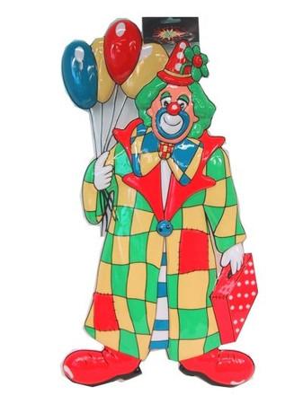 Wanddeko Clown mit Ballons