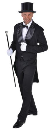 Herrenfrack mit Satinkragen schwarz