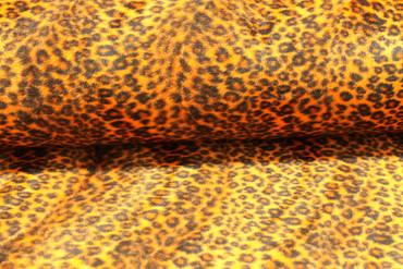 Fellstoff Leopard orange – Bild 2