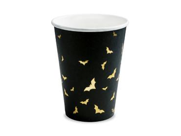 6 Papp-Teller Fledermaus schwarz-gold – Bild 1