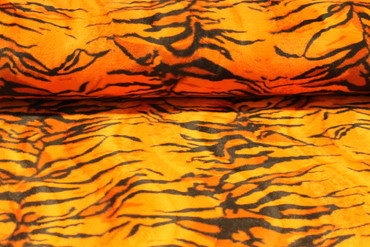 Fellstoff Tiger orange