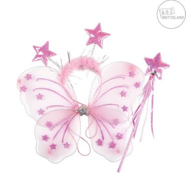 Flügelset Kinder rosa