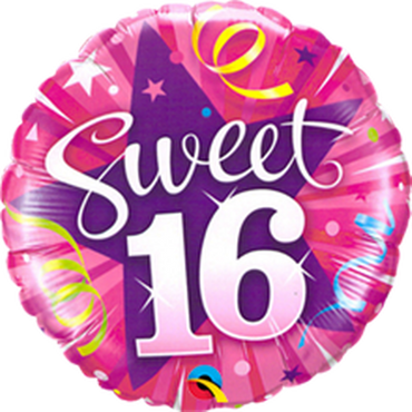 Folienballon Sweet Sixteeen