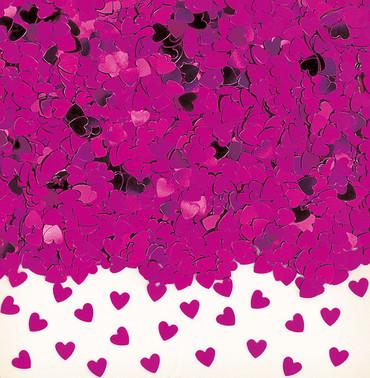 Folienkonfetti Sparkle Hearts hotpink
