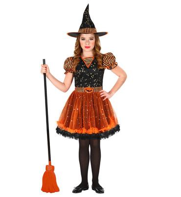 Hexen-Kleid schwarz-orange