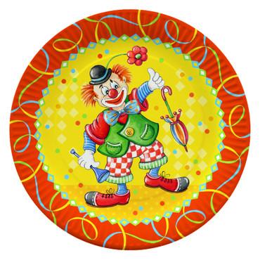 10 Partyteller Clowngesicht