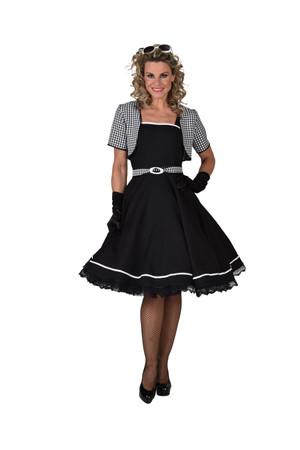 50s Kleid 'Jackie' schwarz/weiss